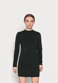 Even&Odd Petite - Denimové šaty - black - 0