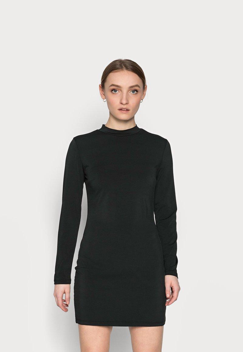 Even&Odd Petite - Denimové šaty - black