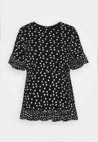 Simply Be - SPOT RUFFLE - Print T-shirt - mono - 3