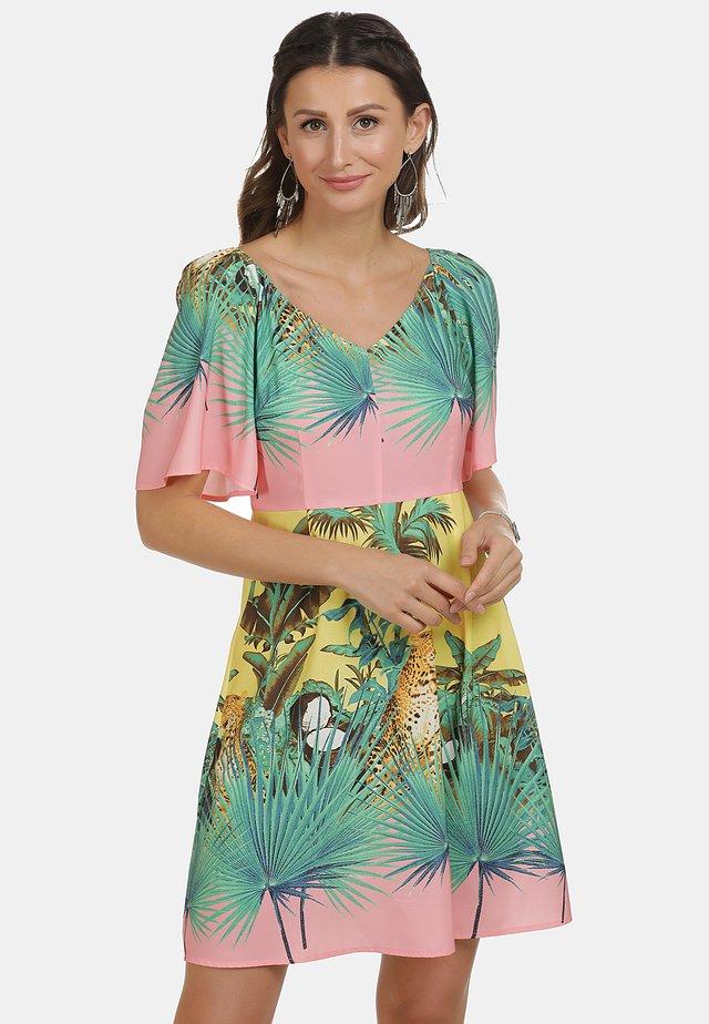 Korte jurk - tropical print
