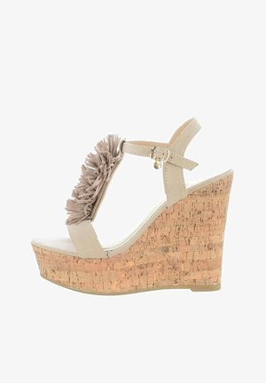 MONZA  - High heeled sandals - beżowy