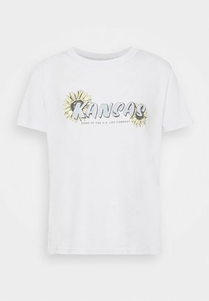 KANSAS GRAPHIC TEE - Print T-shirt - lilac hunt
