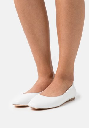 LEATHER COMFORT - Ballet pumps - white
