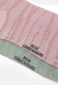 Becksöndergaard - MIX SOCK 2 PACK - Socks - light green/rose - 2