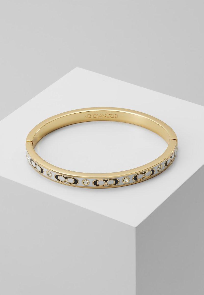 Coach - HINGED BANGLE - Bracelet - gold-coloured/chalk