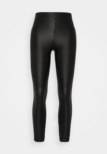 VICOMMIT COATED PLAIN  - Leggings - Trousers - black