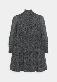 Pieces Curve - PCMATHILA DRESS - Day dress - black/white - 0