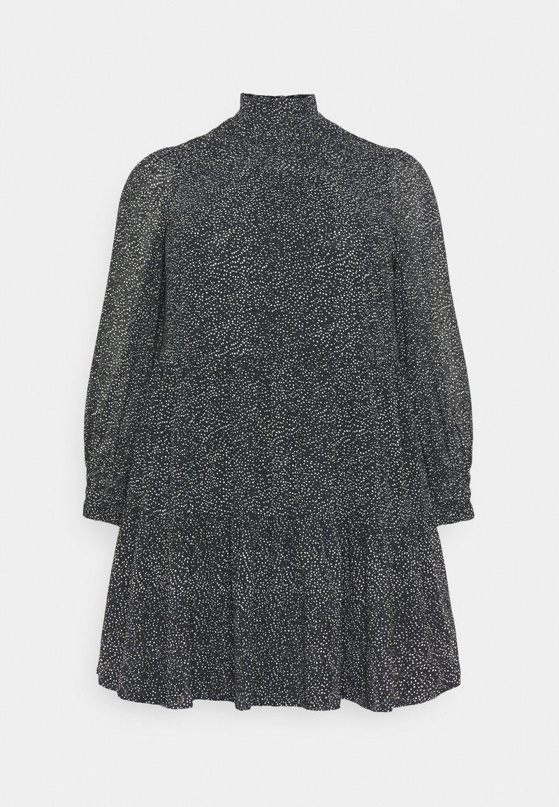 Pieces Curve - PCMATHILA DRESS - Day dress - black/white