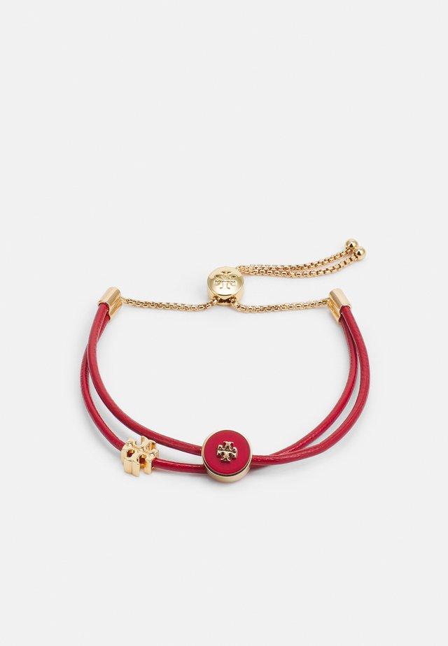 KIRA SLIDER BRACELET - Bransoletka - gold-coloured/ brilliant red
