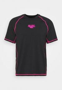 Hi-Tec - BOLT TEE - Print T-shirt - black - 0