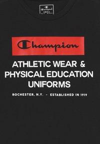 Champion - CHAMPION X ZALANDO BOYS PERFORMANCE TEE - Print T-shirt - black - 3