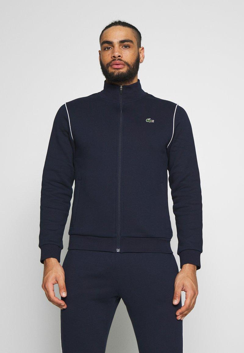 Lacoste Sport - TRACKSUIT - Tracksuit - navy blue/white