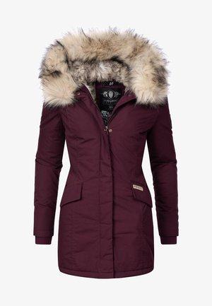 CRISTAL - Winter coat - burgundy
