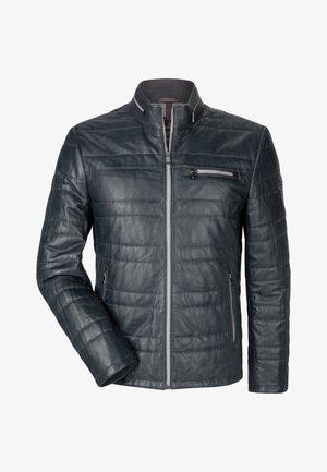 SUN RYTHM - Leather jacket - nachtblau