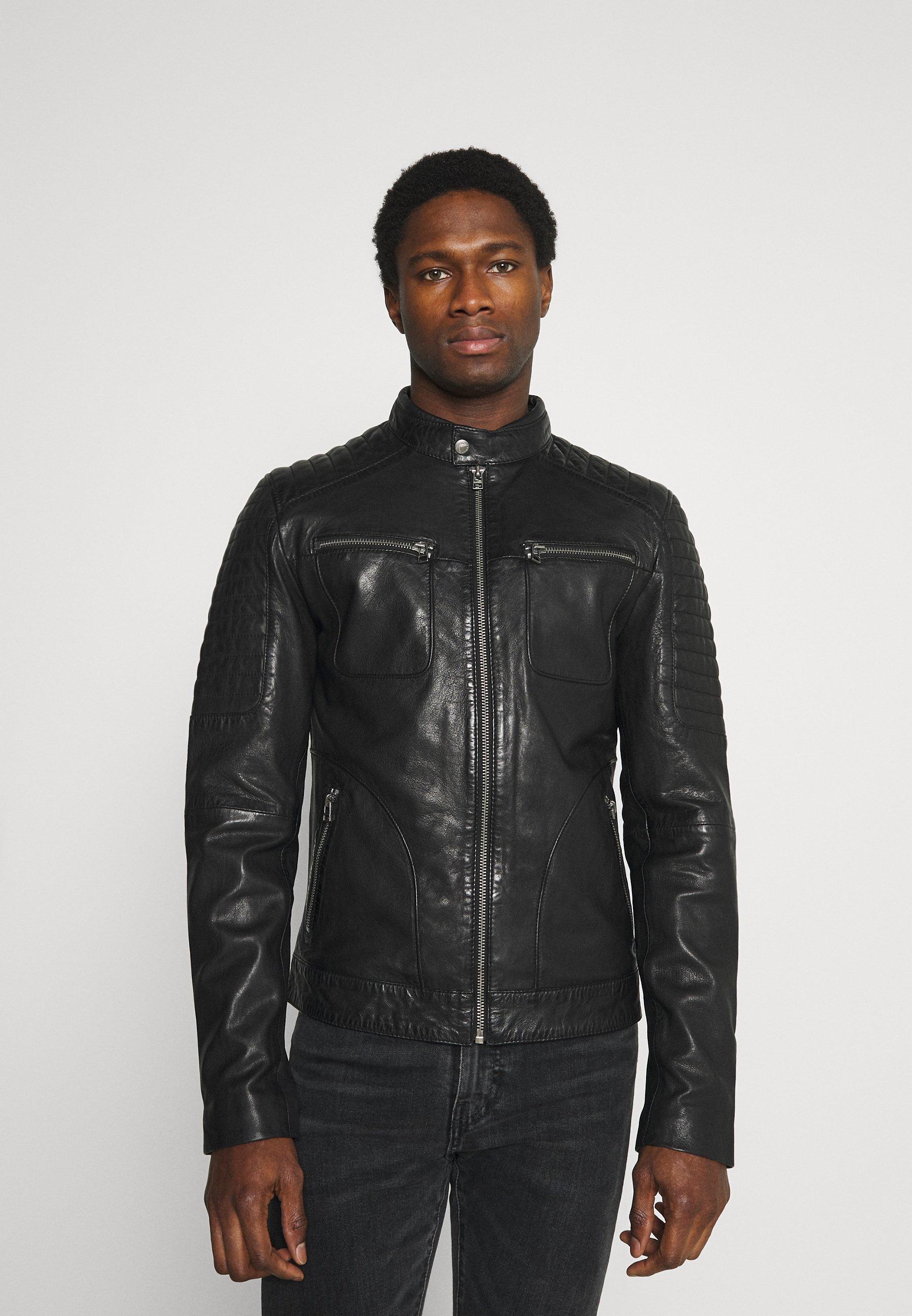 Men ADRIAN BIKER - Leather jacket