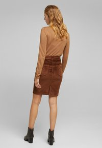 Esprit - PENCIL SKIRT - Pencil skirt - brown - 6