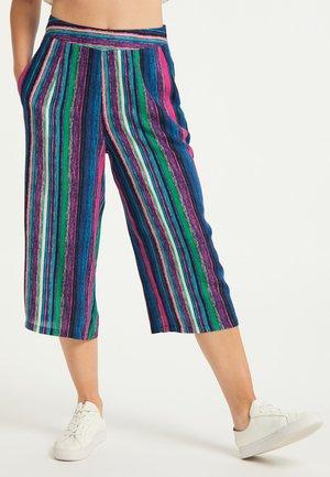 Spodnie materiałowe - multicolor gestreift