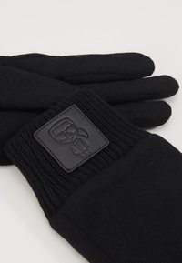 KARL LAGERFELD - IKONIK PATCH GLOVE - Gants - black - 3