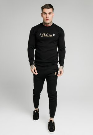SIGNATURE TRACK PANTS - Tracksuit bottoms - black