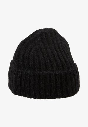 KNITTED HAT - Beanie - black