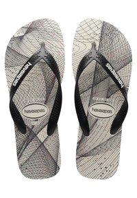 Havaianas - AERO GRAPHIC - Pool shoes - grey/black - 1