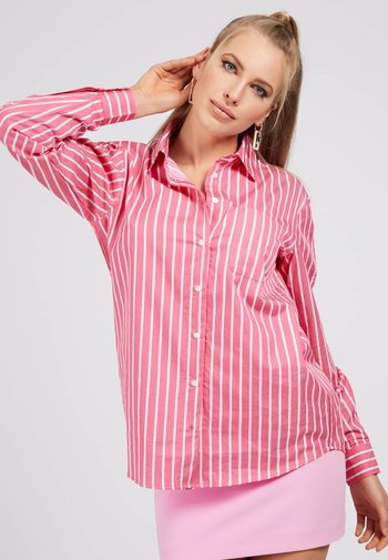 POPELINE - Button-down blouse - mehrfarbe rose