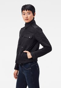 G-Star - QUILTED OVERSHIRT - Jas - black - 2