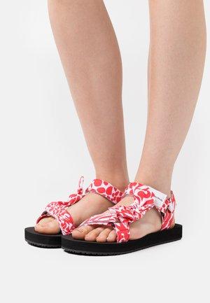 MONIKA - Sandals - red/white