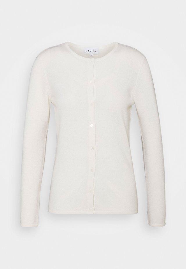 CLASSIC CARDIGAN - Strickjacke - white