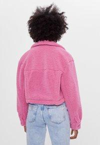 Bershka - Fleece jacket - pink - 2