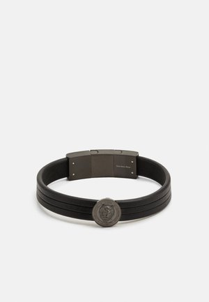 LION COIN LEATHER BRACELET - Bracciale - black