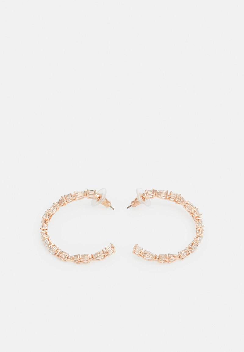 Swarovski - TENNIS HOOP - Earrings - rose gold-coloured