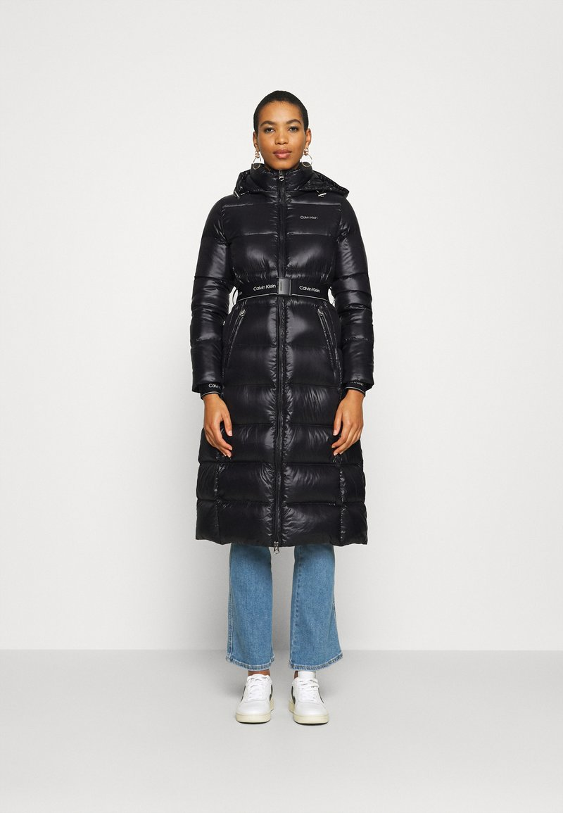 Calvin Klein - LOFTY  BELTED MAXI COAT - Dunkåpe / -frakk - black