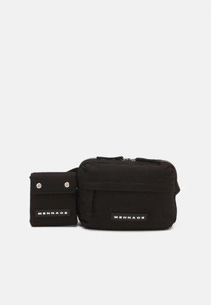ROSEBOWL DOUBLE BELT BAG SET UNISEX - Sac banane - black