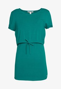 Esprit Maternity - NURSING - Print T-shirt - teal green - 0