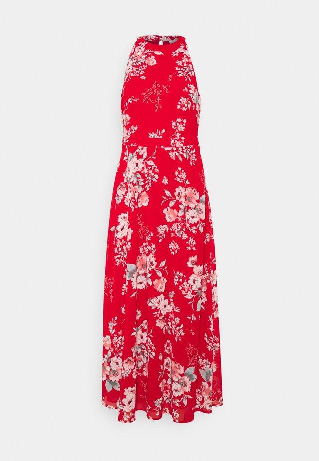 VITAGETES HALTERNECK ANKLE DRESS PETITE - Maksimekko - mars red