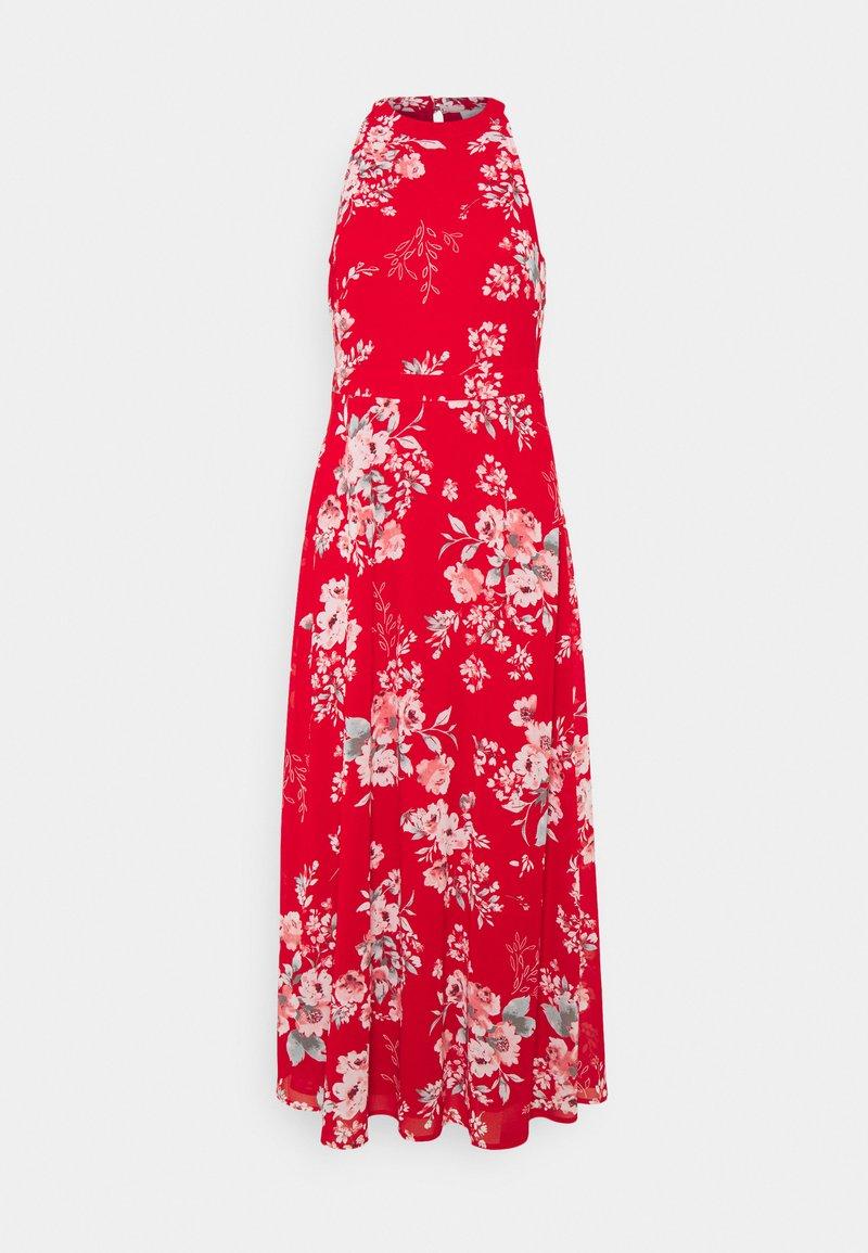 VILA PETITE - VITAGETES HALTERNECK ANKLE DRESS PETITE - Maxi dress - mars red