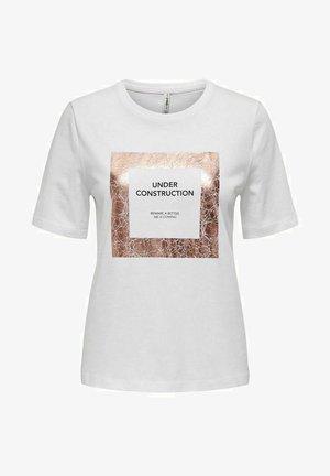 ONLIVY - Camiseta estampada - bright white