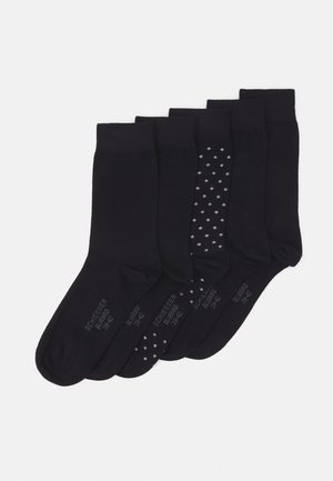 STAY FRESH 5 PACK - Ponožky - black