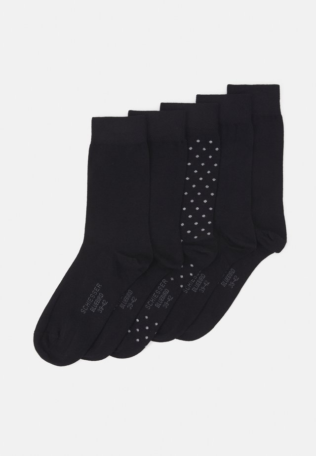 STAY FRESH 5 PACK - Chaussettes - black
