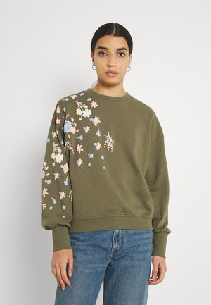 ONLBROOKE O NECK FLOWER - Sweater - kalamata
