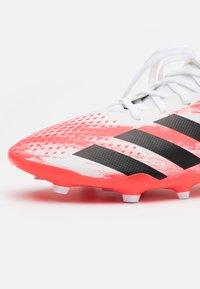 adidas Performance - PREDATOR 20.3 FG - Moulded stud football boots - footwear white/core black/pop - 5