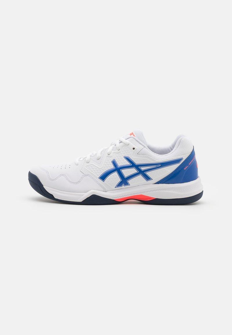 ASICS - GEL-DEDICATE 7 INDOOR - Multicourt tennis shoes - white/lapis lazuli blue