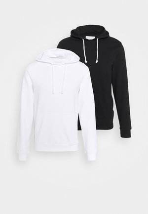 2 PACK - Kapuzenpullover - black/white