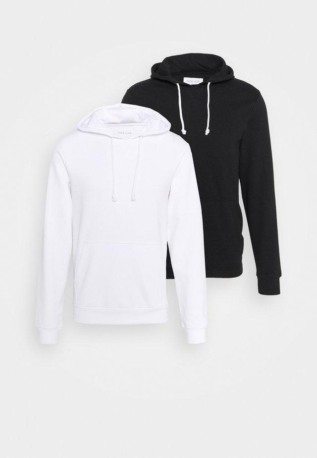2 PACK - Felpa con cappuccio - black/white