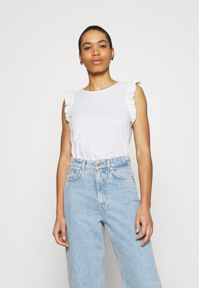 PHIL FRILL - T-shirt con stampa - cream white