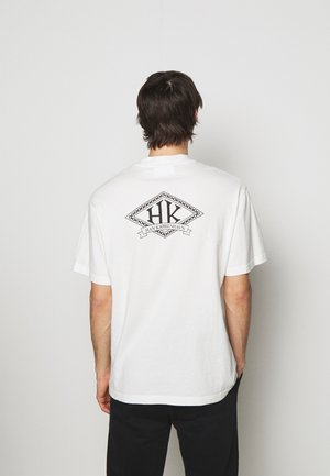 BOXY TEE BACK - Print T-shirt - off white
