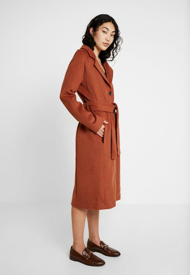 OBJLENA COAT - Classic coat - brown patina