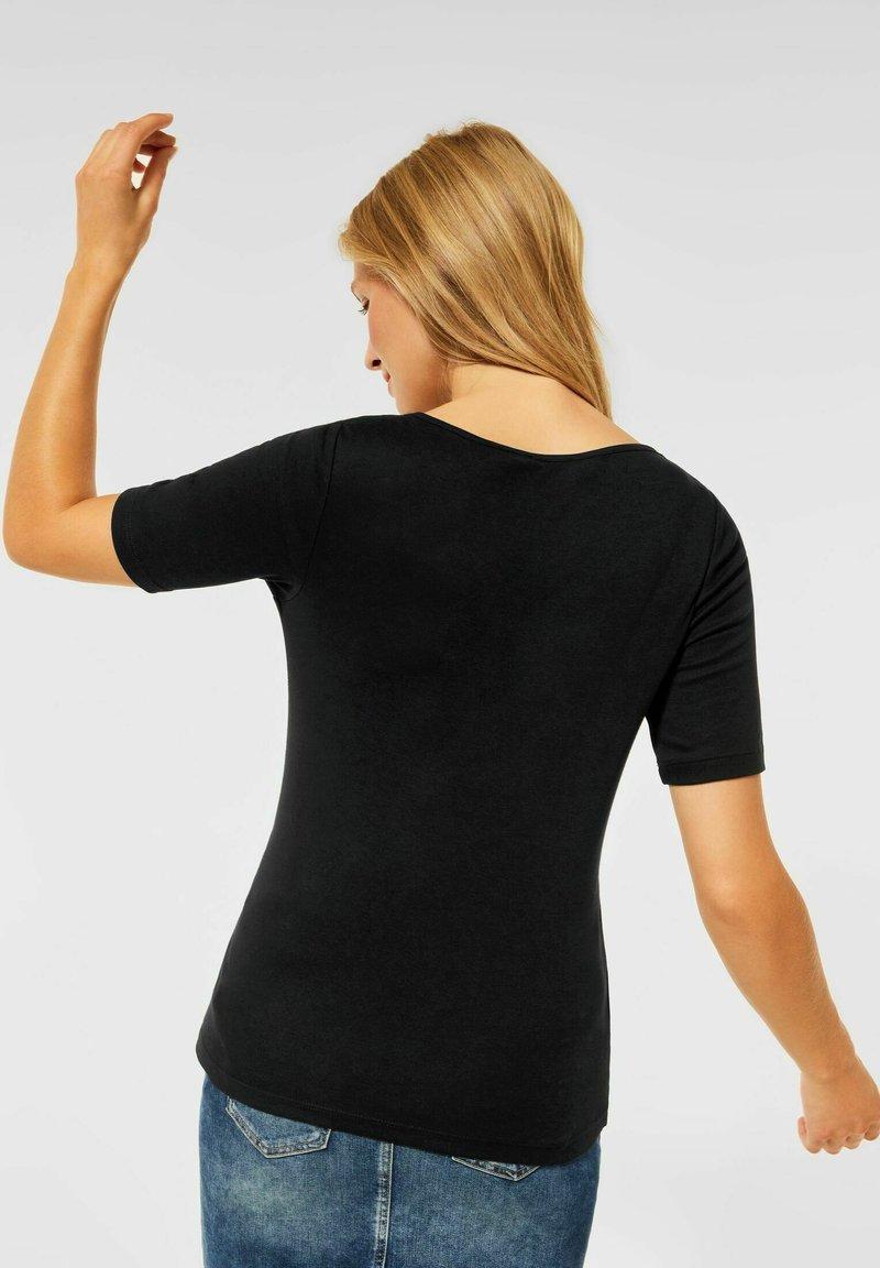 Street One - MIT NEUEM AUSSCHNITT - Basic T-shirt - schwarz