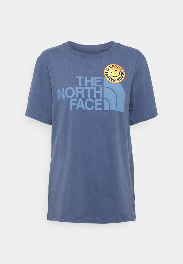 PATCHES TEE  - T-shirt con stampa - vintage indigo
